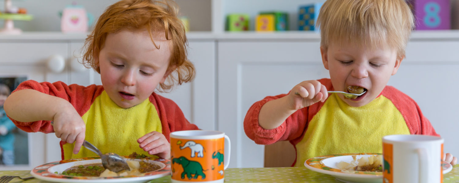 Children eating in nursery